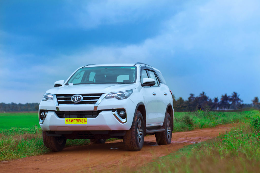 Rent Toyota Fortuner automatic in Kerala