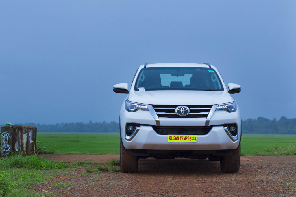 Rent Toyota Fortuner automatic in Kottayam